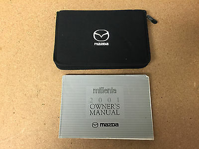 2001 01 Mazda Millenia Owner's Owners Manual W/ Oem Case! Free Shipping! A