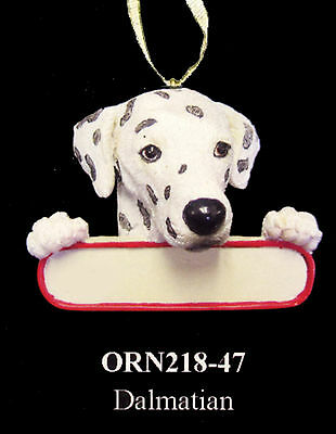 "DALMATIAN Christmas Dog Ornament ""Santa's Pals"" w/ Personalized Name Plate #47"