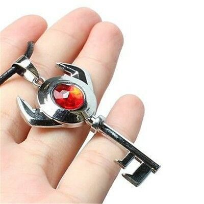 Anime The Legend of Zelda Red Crystal Key Metal Pendant Necklace Cosplay