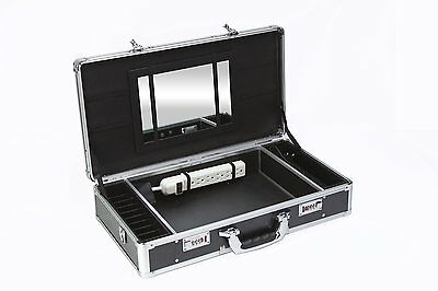 New Larger Barber Box V5 Carrying Case w/Mirror and Removable Lid ( Qty of 4)