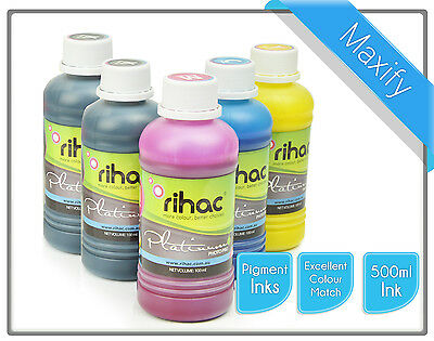 500ml Rihac Pigment Inks for Canon Maxify using PGI1600 & PGI2600 Cartridge