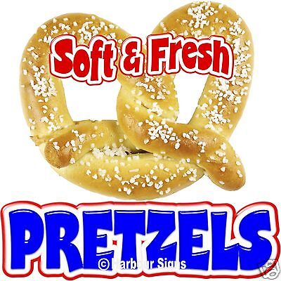 Pretzels Soft Fresh Food Truck Concession Stand Restaurant Vinyl Sign Decal 7""