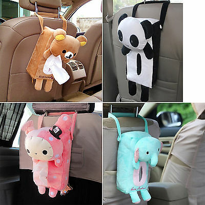 Cute Home Office Car Rectangle Tissue Box Cover Holder Paper Bathroom Storage