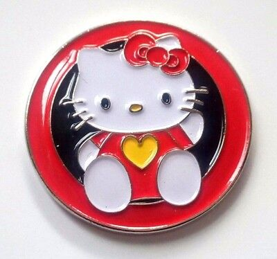 anneys - **GOLF  BALL  MARKERS - hello kitty - 24mm diameter**