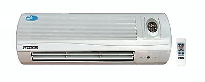 QE-7050B Bedroom Wall Fan Heater with Ioniser, LED display, Remote Control