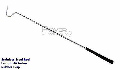 Snake Catching Hook 100cm Long, Stainless Steel Rod with Handle, Brand New