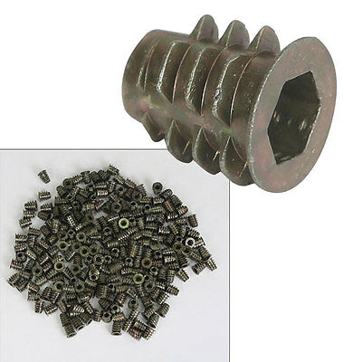 A1-50 Stainless Steel ALLEN WOOD INSERT Nuts M6 x 13mm Hexagon/Hex Head SCREW