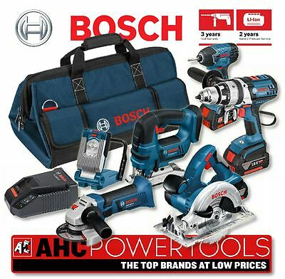 Bosch 6PC Tool Kit 18V li-ion Cordless 6-Tool Package (3x4Ah Batteries) BAG+6RS