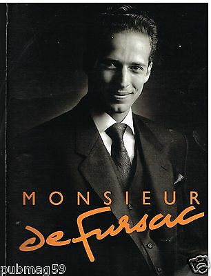 Pret à Porter Homme Monsieur De Fursac 2 Pages Publicité Advertising 1988