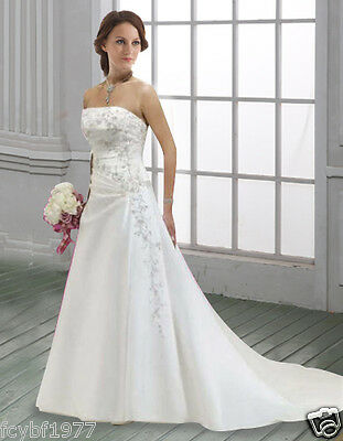 New White/Ivory Wedding Dress Bridal Gown Size:6/8/10/12/14/16/18