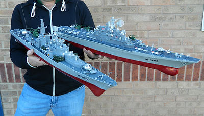 Radio Remote Control RC Battleship, Aircraft Carrier Ready to Run Boats 1:275