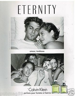 Publicité Advertising 2002 Parfum Eternity par Calvin Klein
