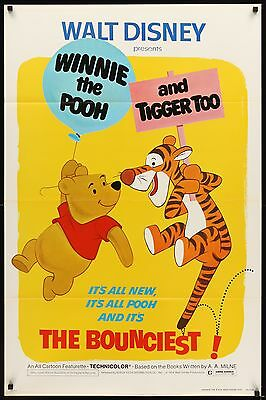 WINNIE THE POOH AND TIGGER TOO  original film / movie poster