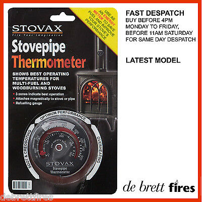 Stovax Stove Magnetic Thermometer Flue Pipe Coal Log Wood Multi Fuel 3046