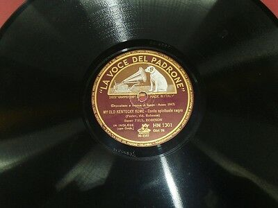 PAUL ROBESON My old Kentucky home / Ol' man river 78 RPM La Voce del Padrone