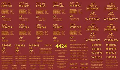 Modelmaster 4424 Oo Br Parcels Vans Numbers & Letters Waterslide Transfer Decals