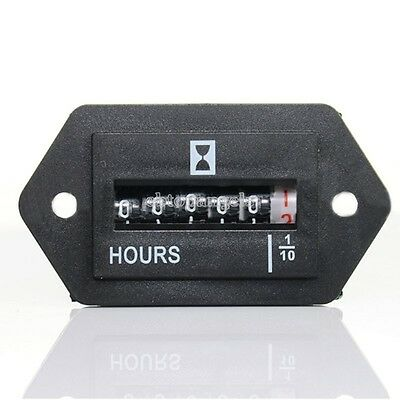 6-digit Display Electromechanical Electronic Time Hour Meter Counter AC100-250V