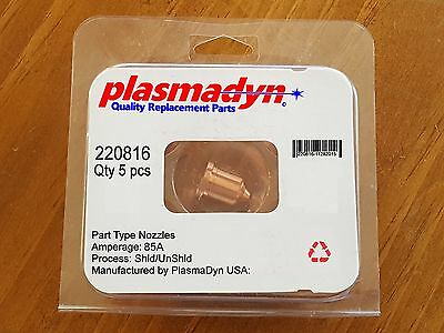 5pc x 220816 - 85A Nozzles - Mfg & Sold by PlasmaDyn - no knockoff *JUNK* here