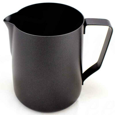 Rhinowares Professional Milk Jug/Pitcher Black 360ml / 12oz
