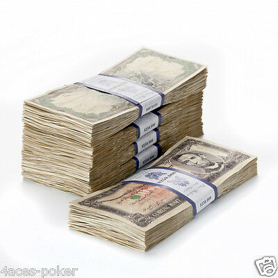 Poker Play Money Bundle Dollars Bank Notes Poker Chips Money