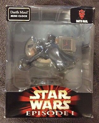 Star Wars Darth Maul Sculped Mini Clock NEW