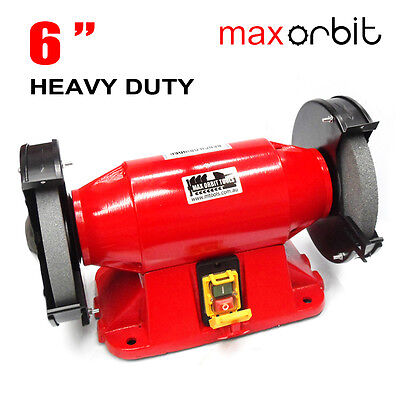 "Heavy Duty 150mm 6"" Bench Grinder 3/4HP Large Motor 550W Power, Industrial Level"