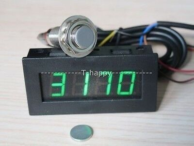 Digital LED Tachometer RPM Speed Meter+ Hall Proximity Switch Sensor + Magnet G
