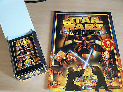 ** Star Wars Revenge Of The Sith Sticker Album 50 Unopened Packs Of Stickers ***