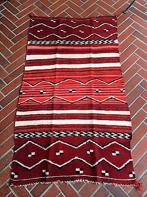 "OLD VINTAGE NAVAJO CHILD BLANKET COCHINEAL INDIGO ""antique textile dye analysis"""