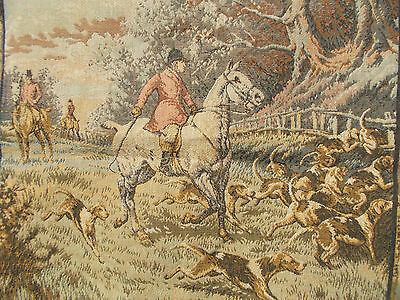French exquisite tapestry perfect scene hunting great detailed marked