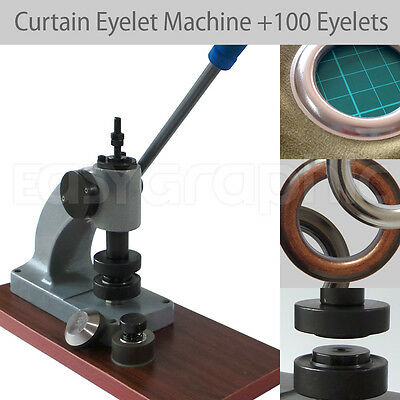 100 Curtain Big Eyelets   Machine Punch Tool Set Sewing Grommet 39mm Non-Rust