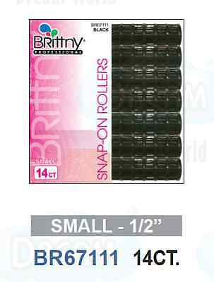 Brittny Professional Snap On Hair Rollers Small 1 2 14ct Br67111