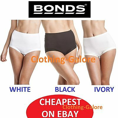 New Bonds Womens Cottontails Cotton Underwear Undies White Black Plus Size 12-26