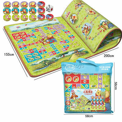 CLEARANCE SALE 2sides Kids Foam Play Mat Rug Winnie The Pooh 200*155cm