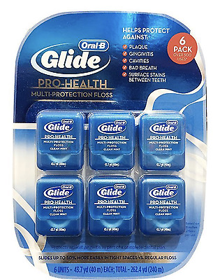 Oral B Glide Dental Floss 6 Pack Clean Mint Free Postage Superfast Delivery!!