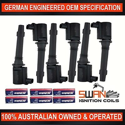 6 x Ignition Coil with ACDelco Spark Plugs for Ford BA BF FG(LPG) XR6 Territory