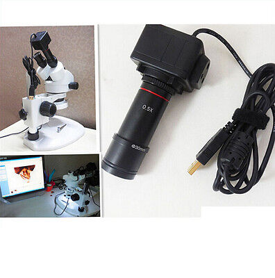 5.0MP HD Microscope USB Digital Camera Video Electronic Eyepiece w/ 0.5X Lens