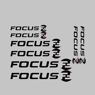 8x Focus Bike/Cycling/Cycle/Push Bike Frame Stickers Decals Kit + Logo