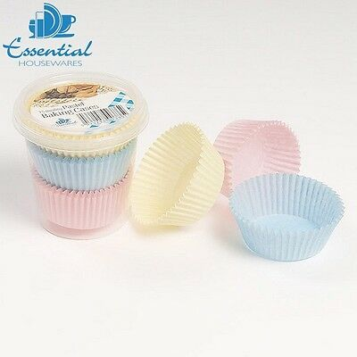 Essential Housewares Pack Of 75 Pastel Cake Cases Pastry Baking Dessert Home New