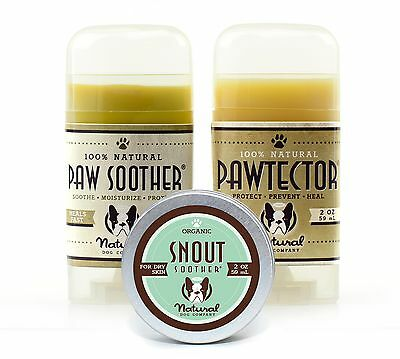 Natural Dog Company SNOUT SOOTHER, PAW SOOTHER, PAWTECTOR Set (2oz/59ml each)