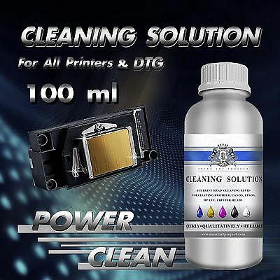 100ml Print Head Cleaner Cleaning Fluid Solution for any Unblock Inkjet Printer