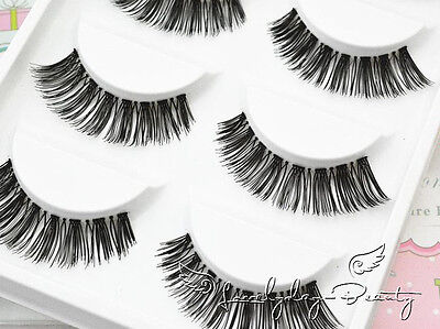 5 Pairs Long Thick Handmade Makeup Fake False Eyelashes Eye Lashes#25