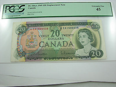 1969 Canada 20$ replacement note BC-50aA *EA PCGC EF-45