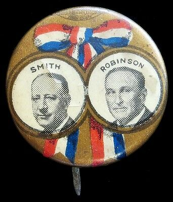 1928 Smith & Robinson Jugate Presidential Campaign Celluloid 22 Mm Button