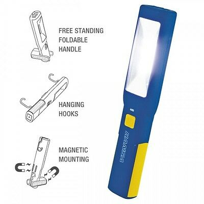 Hansa Rechargeable Handheld Work Light 7 Led Magnetic 240V & 12V Chargers