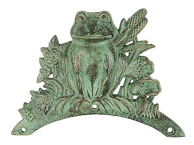 Hose Holder Cast Iron Frog Mr Gecko Decorative Hose Reel Hanger Holder Verdigris