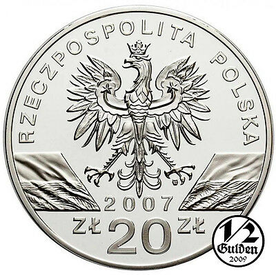 POLAND 20 Zlotych 2007 Silver Proof Coins