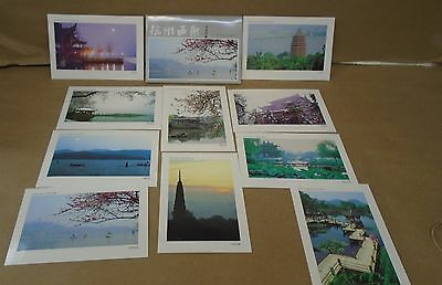 10 Different unused pre stamped peoples republic china 1993 postcards west lake