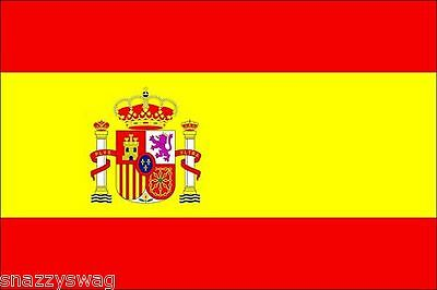 SPANISH FLAG OF SPAIN 5 x 3 LARGE GREAT QUALITY NATIONAL FLAG POLYESTER NEW!!