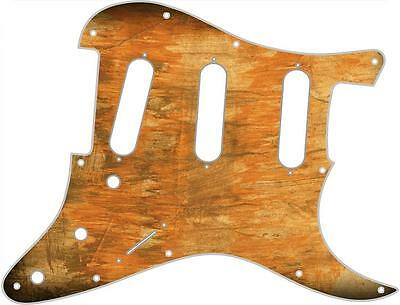 Stratocaster Pickguard Custom Fender SSS 11 Hole Guitar Pick Guard Brush Stain